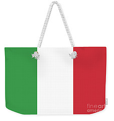 Weekender Tote Bag featuring the digital art Flag Of Italy by Bruce Stanfield