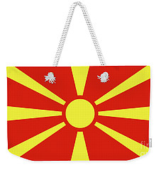 Weekender Tote Bag featuring the digital art Flag Of Macedonia by Bruce Stanfield