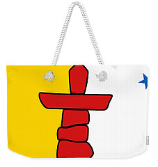 Flag Of Nunavut High Quality Authentic Hd Version Weekender Tote Bag