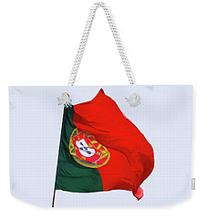 Weekender Tote Bag featuring the photograph Flag Of Portugal by Menega Sabidussi