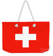 Weekender Tote Bag featuring the digital art Flag Of Switzerland by Bruce Stanfield
