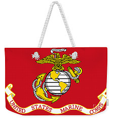 Weekender Tote Bag featuring the painting Flag Of The United States Marine Corps by Pg Reproductions