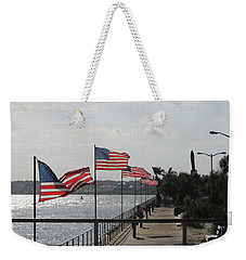 Flags On The Inlet Boardwalk Weekender Tote Bag