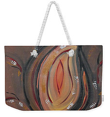 Weekender Tote Bag featuring the painting Flame by Sharyn Winters