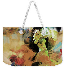 Weekender Tote Bag featuring the painting Flamenco 56y3 by Gull G