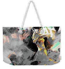 Weekender Tote Bag featuring the painting Flamenco Dance Art 7u7 by Gull G