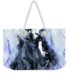 Weekender Tote Bag featuring the painting Flamenco Dancer Art 45h by Gull G