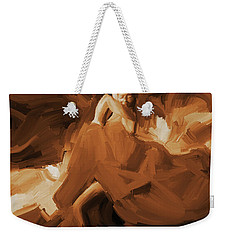 Weekender Tote Bag featuring the painting Flamenco Flamenco  by Gull G