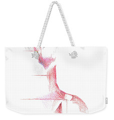 Weekender Tote Bag featuring the painting Flamenco Geometric Cc101 by Kip DeVore