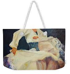 Flamenco In White Weekender Tote Bag