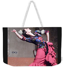 Weekender Tote Bag featuring the photograph Flamenco Passion by Esther Newman-Cohen