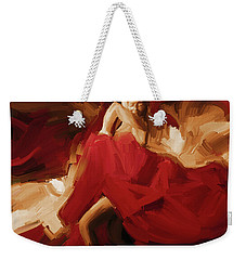 Weekender Tote Bag featuring the painting Flamenco Spanish Dance Painting 01 by Gull G