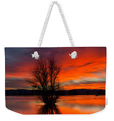 Flames On The Water Weekender Tote Bag