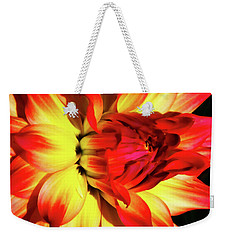 Flaming Blossom Weekender Tote Bag by Tony Grider