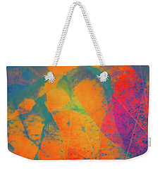 Weekender Tote Bag featuring the photograph Flaming Foliage 1 by Ari Salmela