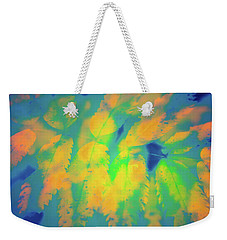 Weekender Tote Bag featuring the photograph Flaming Foliage 2 by Ari Salmela