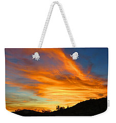 Flaming Hand Sunset Weekender Tote Bag