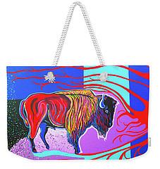 Flaming Heart Buffalo Weekender Tote Bag