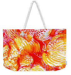 Flaming Hosta Weekender Tote Bag