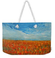 Flaming Orange Weekender Tote Bag