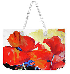 Flaming Poppies Weekender Tote Bag