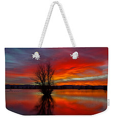 Flaming Reflections Weekender Tote Bag