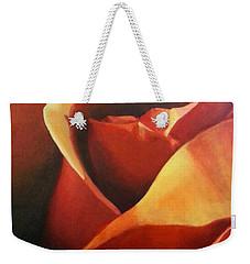 Flaming Rose Weekender Tote Bag