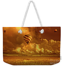 Flaming Sky Weekender Tote Bag by Charuhas Images