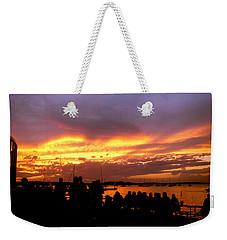 Flaming Sunset Weekender Tote Bag