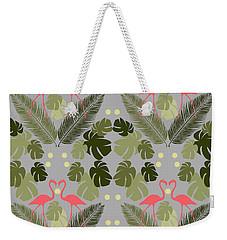 Flamingo And Palms Weekender Tote Bag