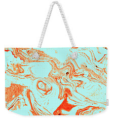 Flamingo And Sea Marble Weekender Tote Bag by Uma Gokhale