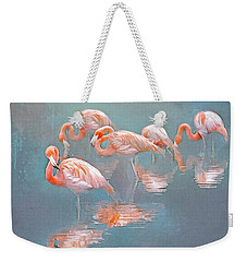 Flamingo Blues Weekender Tote Bag by Brian Tarr