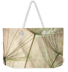 Flamingo Dandelions Weekender Tote Bag by Iris Greenwell