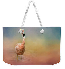 Flamingo Friday Bird Art Weekender Tote Bag
