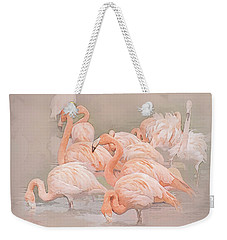 Flamingo Fun Weekender Tote Bag by Brian Tarr