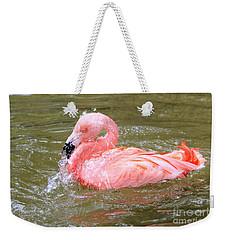 Flamingo Fun Weekender Tote Bag