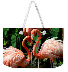 Flamingo Heart Weekender Tote Bag