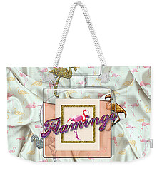 Flamingo Weekender Tote Bag by La Reve Design