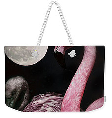 Flamingo Moon  Weekender Tote Bag