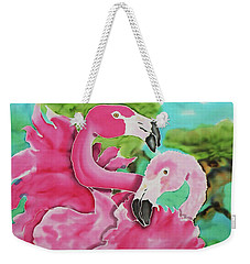 Flamingo Passion Weekender Tote Bag