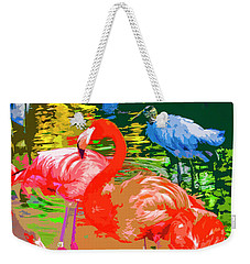 Flamingo Time Weekender Tote Bag