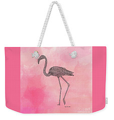 Flamingo3 Weekender Tote Bag