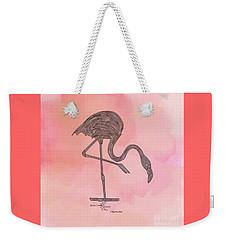 Flamingo4 Weekender Tote Bag