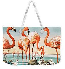 Flamingoes Weekender Tote Bag by English School