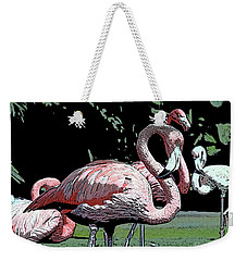 Weekender Tote Bag featuring the photograph Flamingos I by Jim and Emily Bush