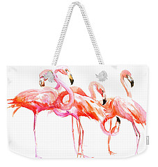 Flamingos Weekender Tote Bag by Suren Nersisyan