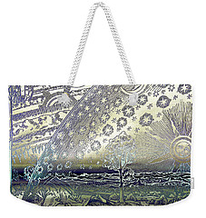 Weekender Tote Bag featuring the photograph Flammarion Engraving Colored by Robert G Kernodle