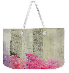Weekender Tote Bag featuring the digital art Flanelle - 24bj by Variance Collections