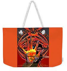 Weekender Tote Bag featuring the digital art Flash Point by Iowan Stone-Flowers