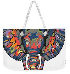 Flashy Elephant Weekender Tote Bag by Kathleen Sartoris